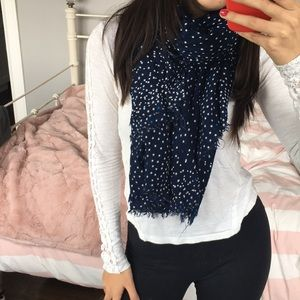 Juicy Couture Lightweight Navy Scarf
